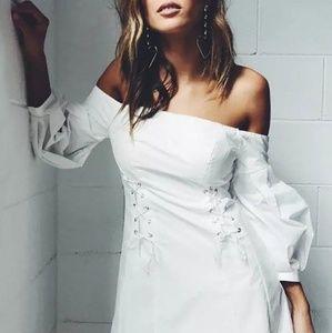 White Beauty Off Shoulder Dress